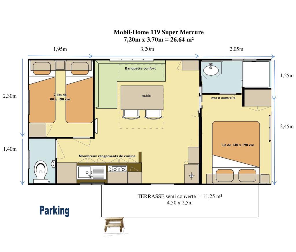 Plan Mobil-home N°119
