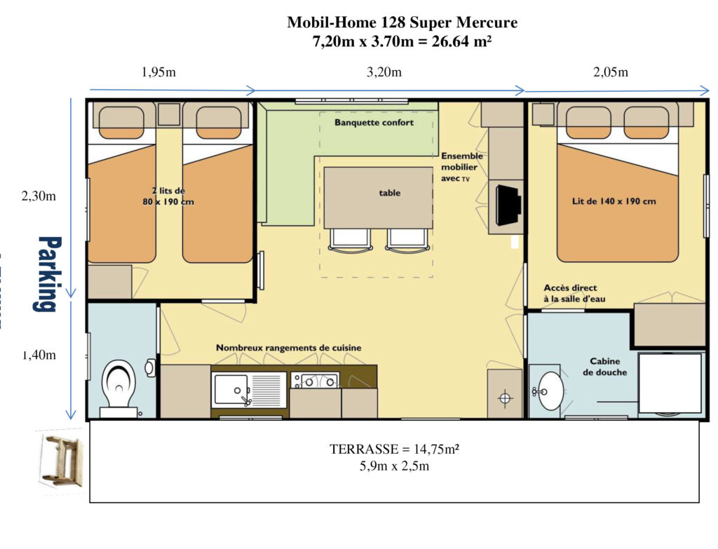 Plan Mobil-home N°128