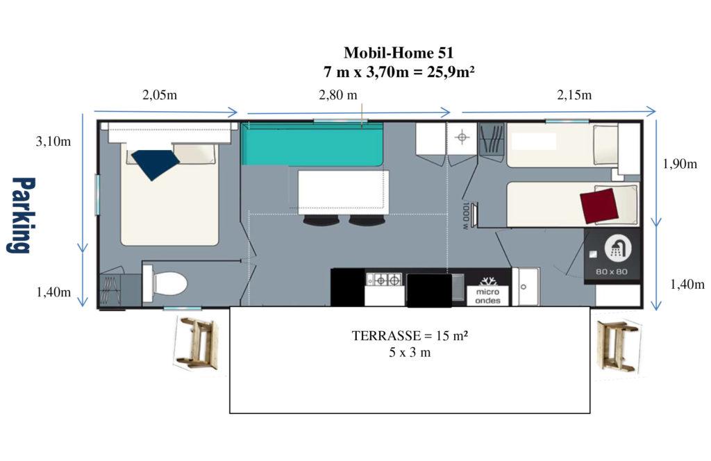 Plan Mobil-home N°51