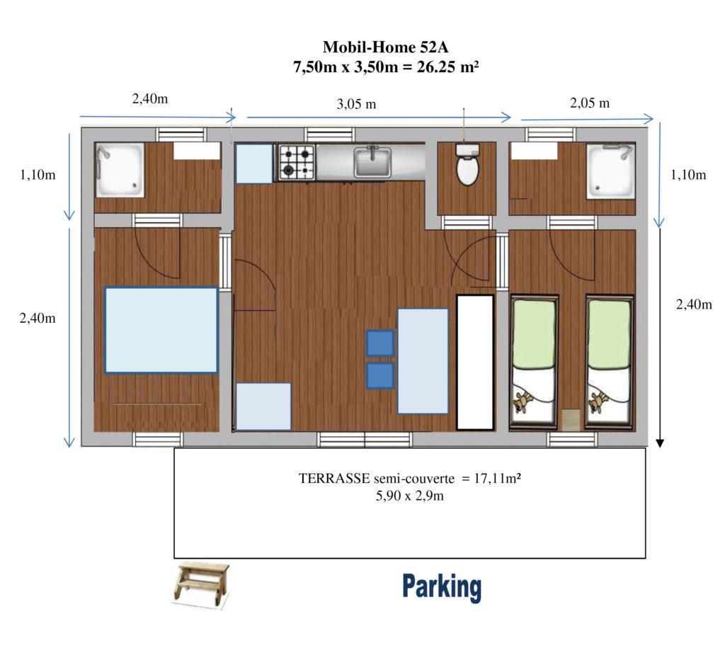 Plan Mobil-home N°52A
