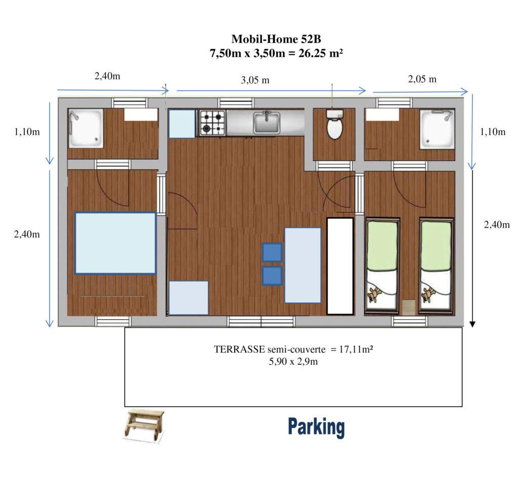 Plan Mobil-home N°52B