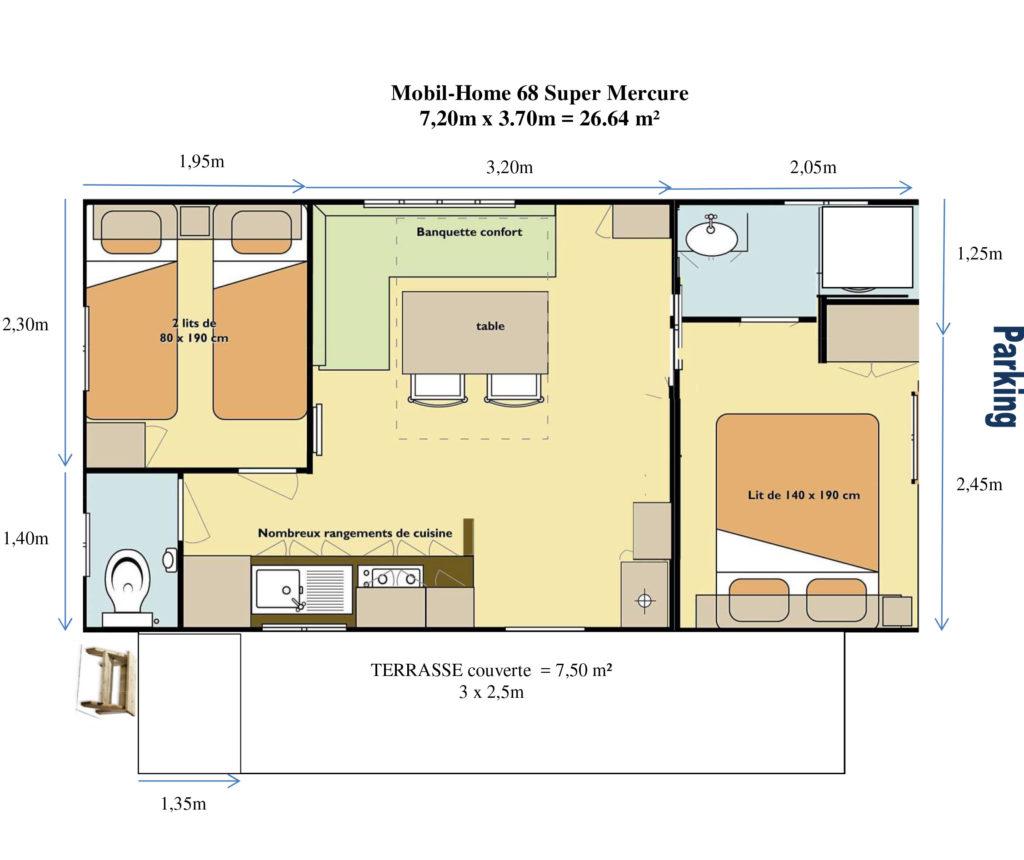 Plan Mobil-home N°68