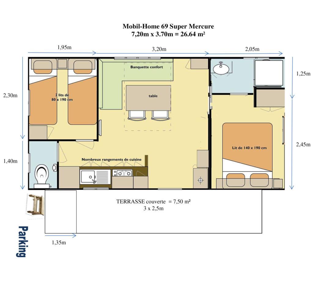 Plan Mobil-home N°69