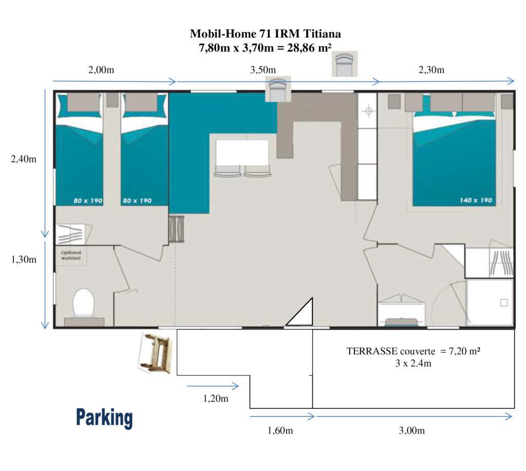 Plan Mobil-home N°71