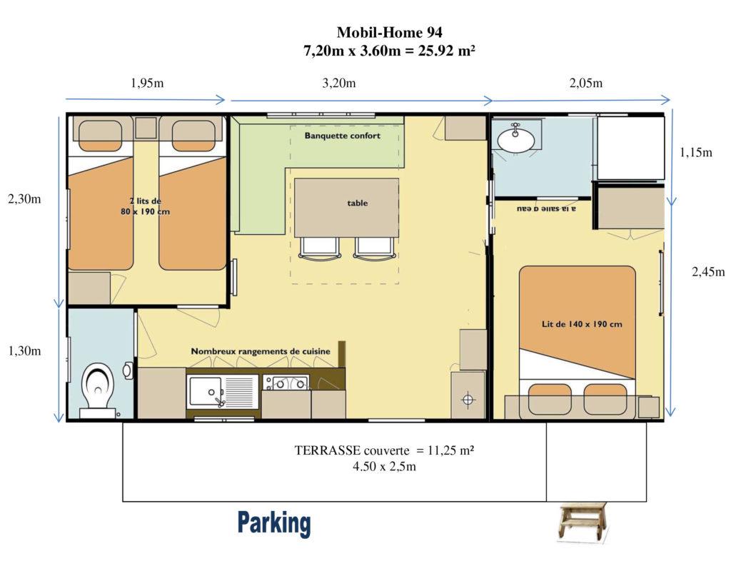 Plan Mobil-home N°94