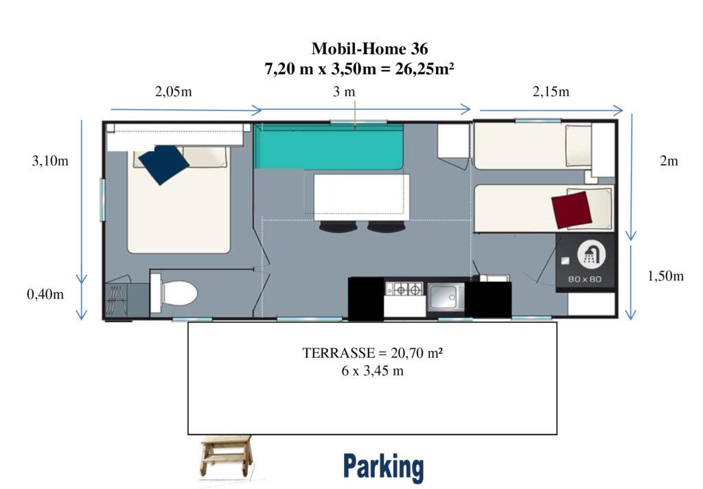 Plan Mobil-home N°36