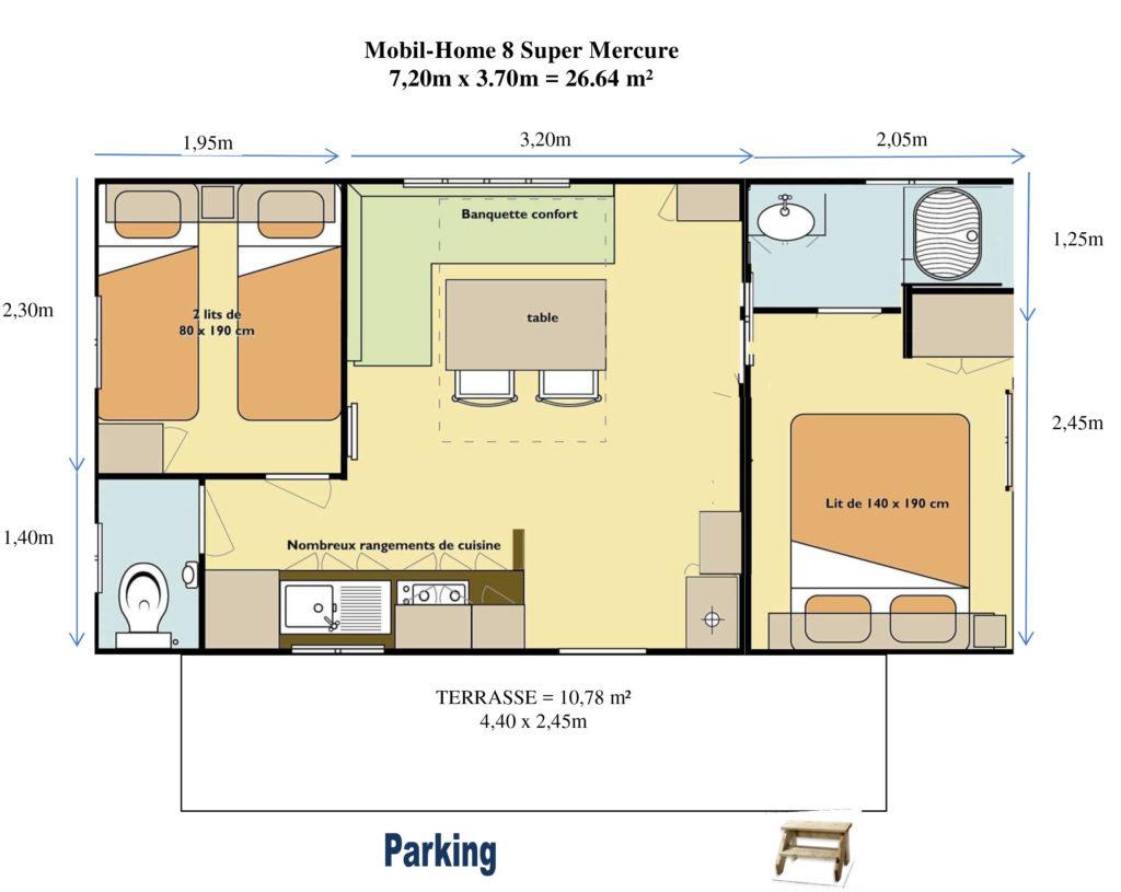 Plan Mobil-home N°08